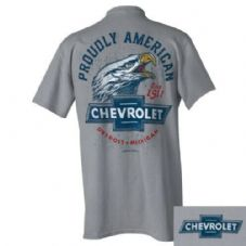 Offizielle Chevrolet Proudly American Eagle T-Shirt Ralph White